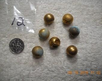 12-Gold Ball Shank Buttons