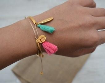 Macramé Bracelet, gold half cuff bracelet, bar connector bracelet, geometric bracelet, minimalistic bracelet, gold bracelet, minimal jewelry