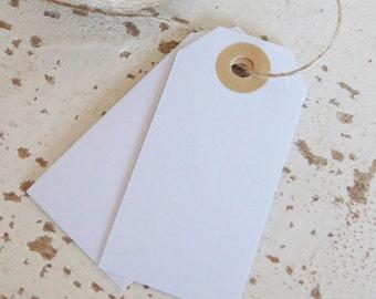 Parcel Tags Pk10 - White