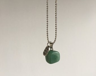 Green Aventurine ~ silver