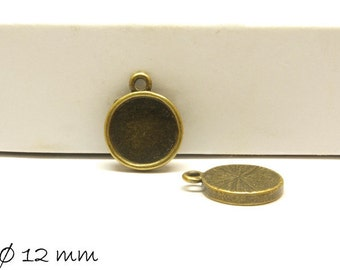 10 PCs pendant/Locket version 12mm bronze
