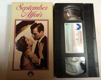 September Affair- Joseph Cotton Joan Fontaine VHS 1950 B&W N/R