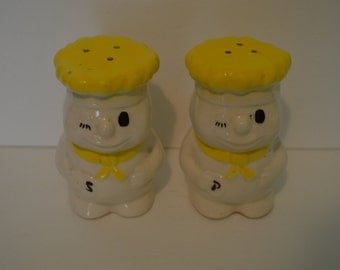 Large Winking Chef Salt and Pepper Shakers