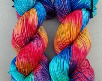 Quantum Sport- Hand dyed yarn, Sport weight, 100% Superwash Merino, 328 yards,