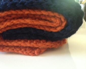 Color Block Throw Blanket