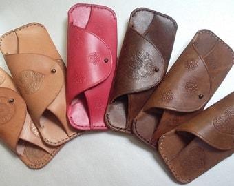 Eyewear Case Veg Tan Leather