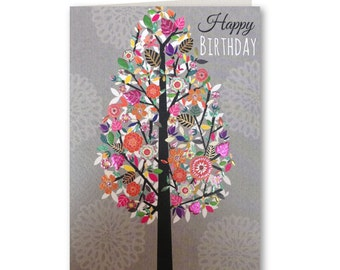 Birthday Card -Happy Birthday - Birthday Greeting Card - Birthday Card for Her - Entwine Collection - EN42