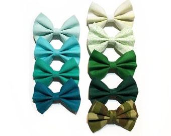 GREEN Baby Bow Headband - GREEN Bow Clip