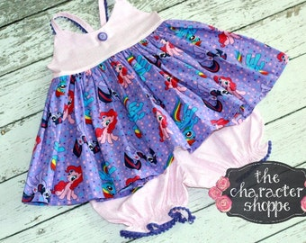 Pony Hummingbird Top and MAtching Bloomer set