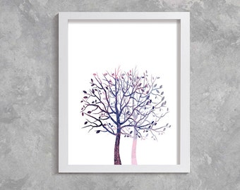 trees art, Printable Art, Modern Wall Art, Wall Decor, Digital Download,  trees print, trees