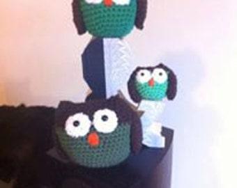 Owl Amigurumi Family Set