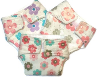 Baby Doll Diapers, Set of 3, pretend play, doll accessories, doll clothes, baby doll gift