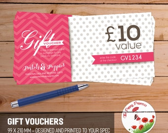 Gift Vouchers for small business, crafters, hand made gift token