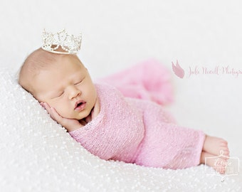 Abagail Crown, Baby Crown, Baby Tiara, Newborn Photo Prop, Newborn Crown, Baby Tiara prop, Photography Props, Unique Photo Props, baby prop