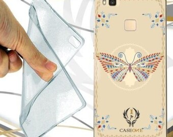 Case cover Butterfly mosaic for huawei p9-p9lite-p9plus