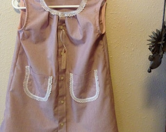 Up cycled Maroon  Stripe Toddler Dress