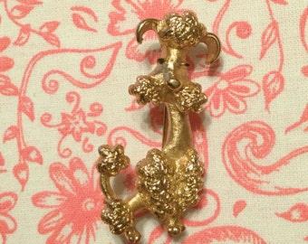 Vintage Avon Poodle Brooch /  Pin