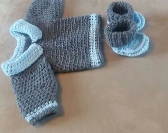 Baby boys crochet jumper