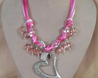 Pink knot necklace