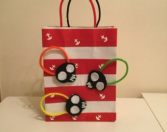 Pirate theme paper bag