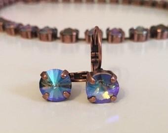 Paradise shine and brown Swarovski crystal necklace
