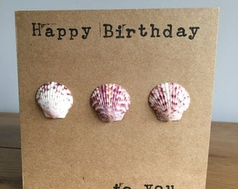 Shell birthday card