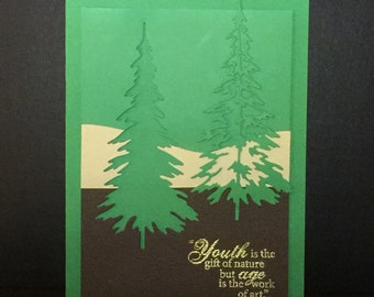 Handmade Greeting Cards-Forest Through The Trees (Set of 3 Cards) Notecards