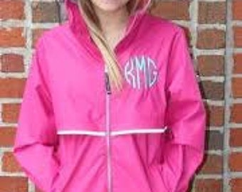Rain Coat /Rain Jacket Monogrammed Embroidery