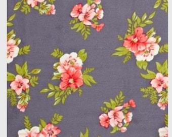 Poly Peachskin Fabric - Design 19 Grey Pink 147cm wide.