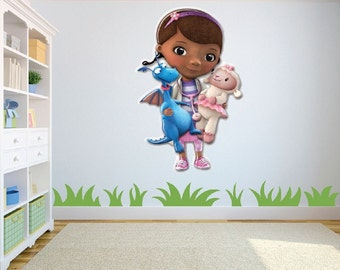 Doc McStuffin and Toys Wall Sticker/Decal for Childrens bedroom/playroom/nursery w40cm x h60cm