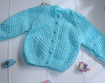 Minty Bella Baby Tizz Hand-knitted Cardigan