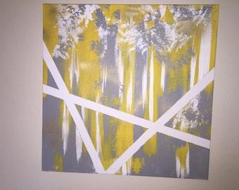 Abstract heavy canvas wall art