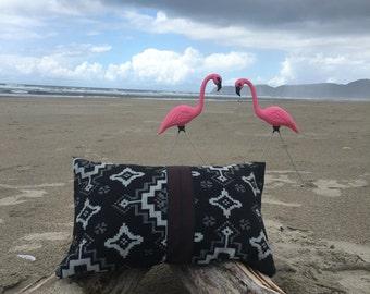 Decorative native print pillowcase made with Pendleton® fabric.