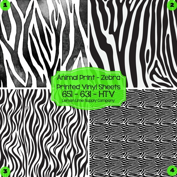 Zebra Animal Print Vinyl Printed Heat By Lemonlimesupplyco