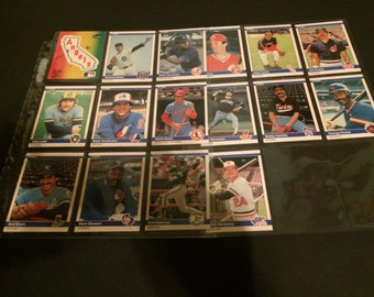 Vintage 1984 Fleer Collectible Baseball Card Set Of 16 Cards