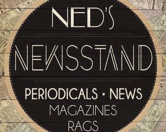 Custom Newsstand Sign Digital Download