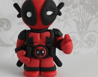Deadpool cake topper | Etsy
