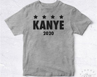NEW Tee Shirt Kanye 2020 BIO HANDMADE President Support Rap Hip Hop Eminem Tupac Biggie Drake Hype Ghetto Politic Usa Debate Election Dope