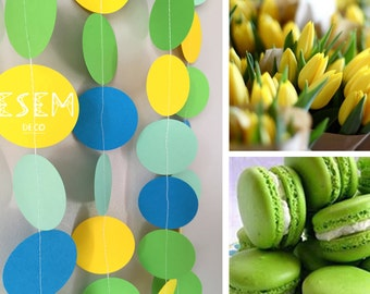 Spring Colors Paper Garland