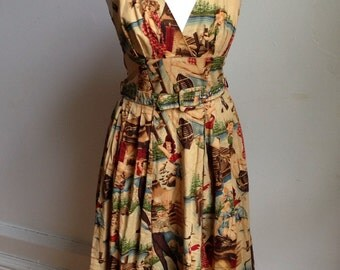 1950's style summer dress- UK size 6