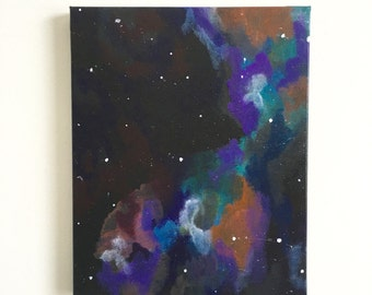 "Deep Space Galaxy Original Acrylic Painting 8""x10"""