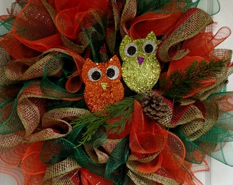 Perfectly Owly Wreath