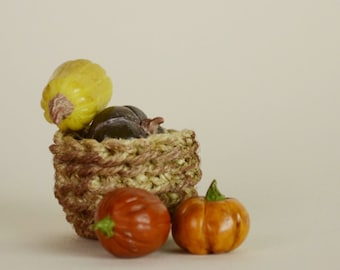 Polymer Clay SQUASH And PUMPKIN With BASKET