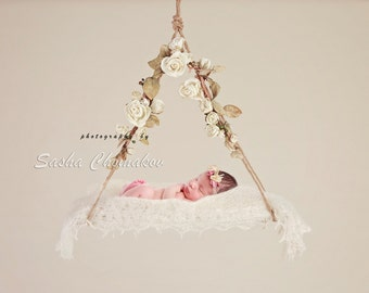 digital backdrop background off  white blossoms newborn baby  girl flowers