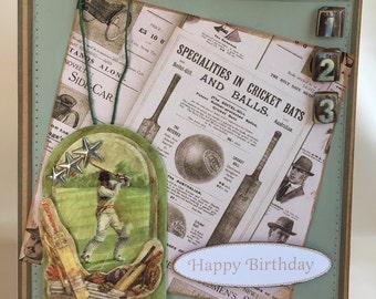 Vintage Cricket Birthday Card | Sport