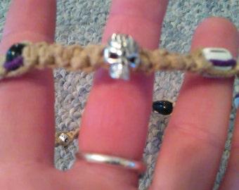 skull hemp necklace