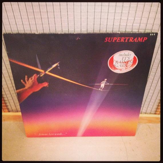 Supertramp - Famous Last Words vinyl