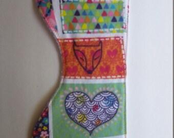 Fox/ hearts burp cloth