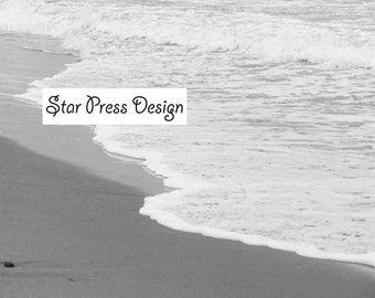 Ocean Photograph, Black and White Ocean Print, Beach Photo, Nature Photography, Peaceful Ocean Print, Beach Home Decor