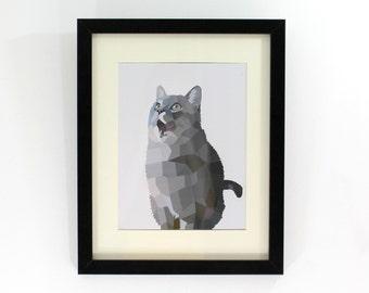 50 Shades of Cat Art Print